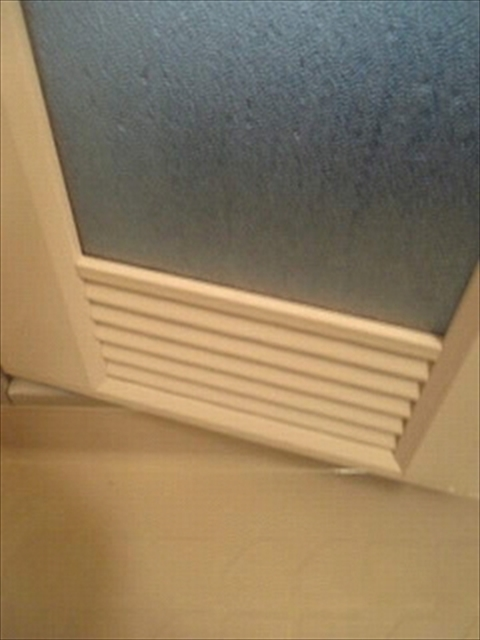 お風呂のドアの掃除完成