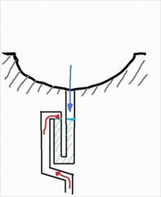 洗面台の排水トラップ