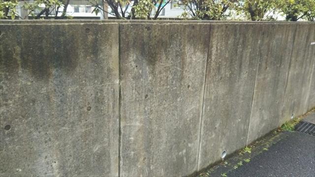 コンクリート壁の経年劣化